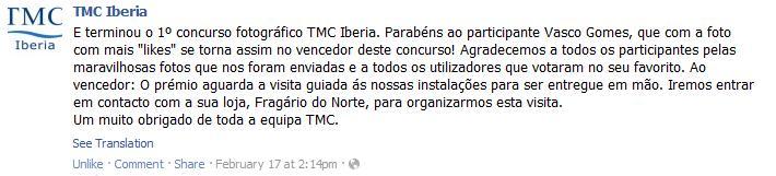 Concurso TMC Iberia - Facebook (1/5)